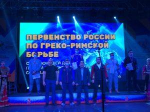 Фото победителей на сцене